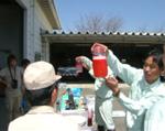 7.油処理剤(中和剤)での油分散の様子